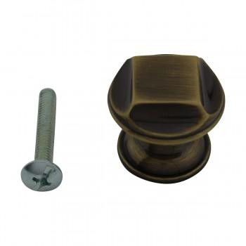 <PRE>6 Cabinet Knob Antique Solid Brass 1inch Dia </PRE>zoom3