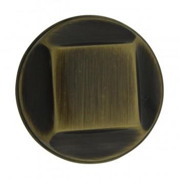 <PRE>6 Cabinet Knob Antique Solid Brass 1inch Dia </PRE>zoom5