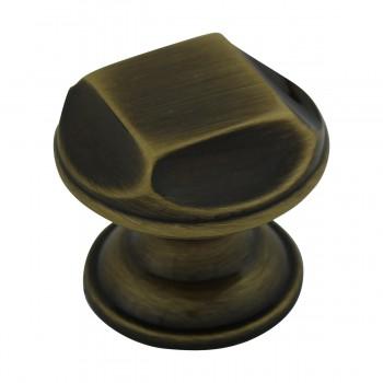 <PRE>6 Cabinet Knob Antique Solid Brass 1inch Dia </PRE>zoom6