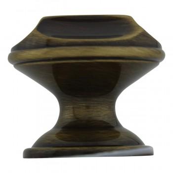 <PRE>6 Cabinet Knob Antique Solid Brass 1inch Dia </PRE>zoom7