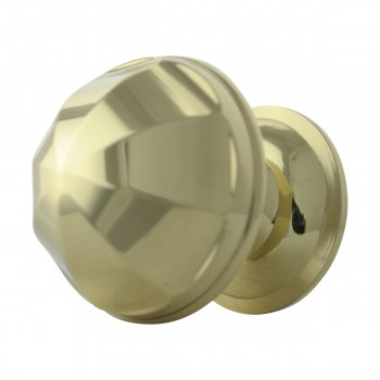 <PRE>6 Cabinet Knob Bright Brass 1'' Diameter Octogonal </PRE>zoom6
