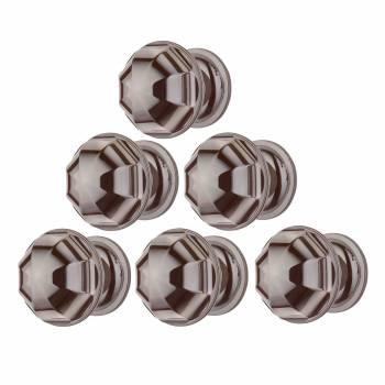 <PRE>6 Cabinet Knob Nickel Black Brass 1'' Diameter </PRE>zoom1