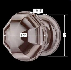 spec-<PRE>6 Cabinet Knob Nickel Black Brass 1'' Diameter </PRE>