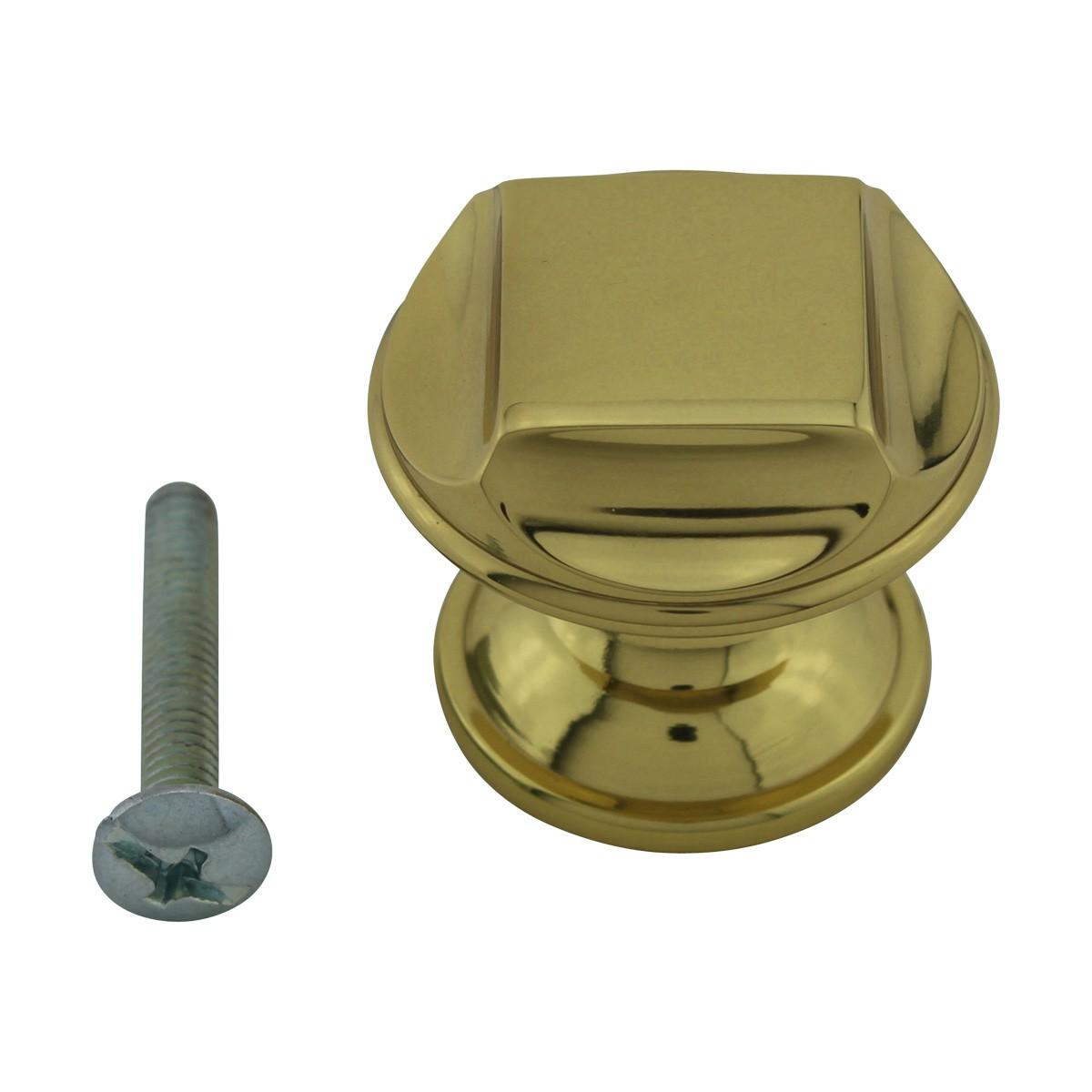 6 Cabinet Knob Bright Solid Brass 1 14 Dia Cabinet Hardware Cabinet Knobs Cabinet Knob