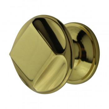 <PRE>6 Cabinet Knob Bright Solid Brass 1 1/4inch Dia </PRE>zoom6