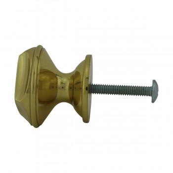 <PRE>6 Cabinet Knob Bright Solid Brass 1 1/4inch Dia </PRE>zoom10