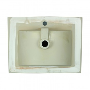 SelfRimming Square Bathroom Dropin Sink White Porcelain Set Of 2 White Drop In Sink Dropin Bathroom Sink Drop In Rectangular Bathroom Sink