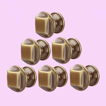 <PRE>6 Cabinet Knob Antique Brass 1 1/4inch Dia </PRE>zoom2