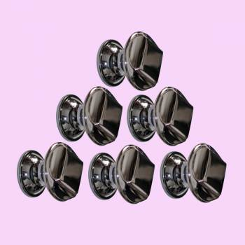 <PRE>6 Cabinet Knob Nickel Black Solid Brass 1 1/4inch Dia </PRE>zoom2
