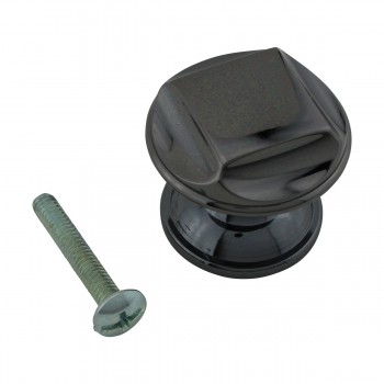 <PRE>6 Cabinet Knob Nickel Black Solid Brass 1 1/4inch Dia </PRE>zoom4