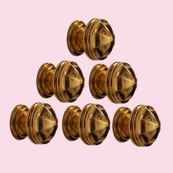 <PRE>6 Cabinet Knob Bright Brass 1 1/4inch Dia Octagonal </PRE>zoom2