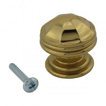 <PRE>6 Cabinet Knob Bright Brass 1 1/4inch Dia Octagonal </PRE>zoom4