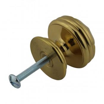 <PRE>6 Cabinet Knob Bright Brass 1 1/4inch Dia Octagonal </PRE>zoom7
