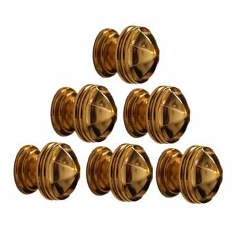 <PRE>6 Cabinet Knob Bright Brass 1 1/4inch Dia Octagonal </PRE>zoom1