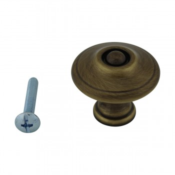 <PRE>6 Cabinet Knob Antique Solid Brass 1 1/4inch Dia </PRE>zoom3