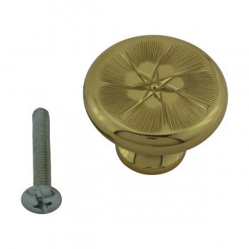 <PRE>6 Cabinet Knob Bright Solid Brass 1 1/4inch Dia </PRE>zoom3