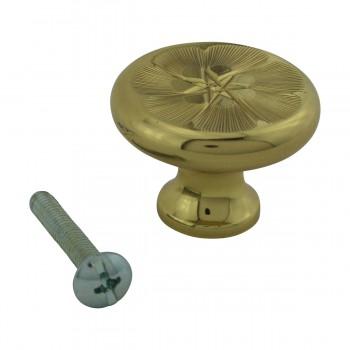 <PRE>6 Cabinet Knob Bright Solid Brass 1 1/4inch Dia </PRE>zoom4