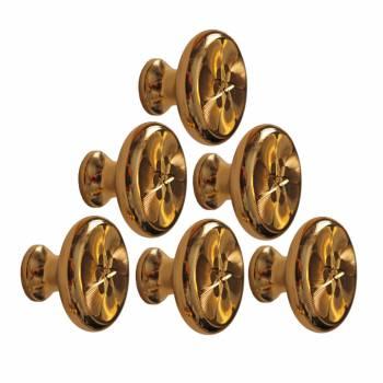 <PRE>6 Cabinet Knob Bright Solid Brass 1 1/4inch Dia </PRE>zoom1