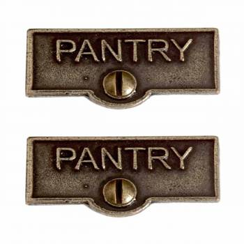 <PRE>2 Switch Plate Tags PANTRY Name Signs Labels Cast Brass </PRE>zoom1