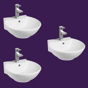 <PRE>White Vitreous China Sink White Vitreous China 18 1/8 in. W Pack of 3</PRE>