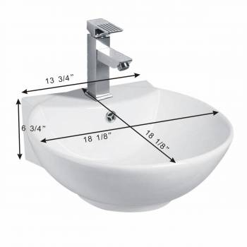 spec-<PRE>White Vitreous China Sink White Vitreous China 18 1/8 in. W Pack of 3</PRE>