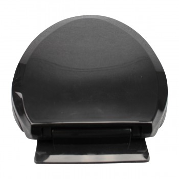<PRE>2 No Slam Toilet Seat Easy Close Black Plastic Elongated </PRE>zoom9