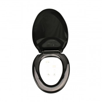 <PRE>2 No Slam Toilet Seat Easy Close Black Plastic Elongated</PRE>zoom7
