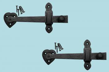 <PRE>2 Gate Latches Hear Shape Black Wrought Iron Set of 2 </PRE>