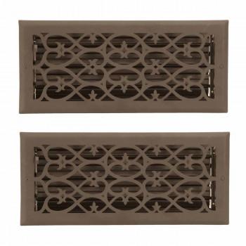 <PRE>2 Floor Heat Register Louver Vent Steel 5 3/4 x 13 3/4 Duct </PRE>