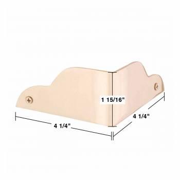 spec-<PRE>2 Corner Guards Bright Solid Brass 1 15/16&quot;H 90 degrees </PRE>