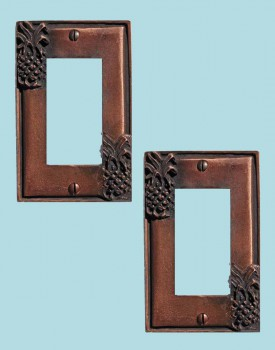 2 Switchplate Antique Copper Light Switch Pineapple GFI Switch Plate Wall Plates Switch Plates