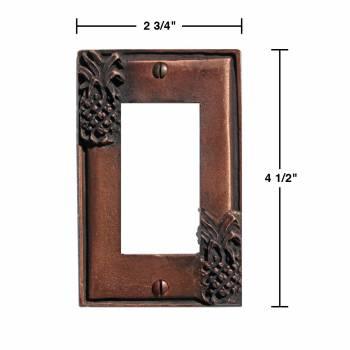 spec-<PRE>2 Switchplate Antique Copper Light Switch Pineapple GFI </PRE>