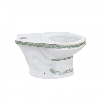 <PRE>Corner Tank Toilet Elongated Green Gold Painted</PRE>zoom5