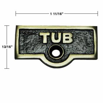 spec-<PRE>Switch Plate Tags TUB Name Signs Labels Antique Brass Set of 2</PRE>