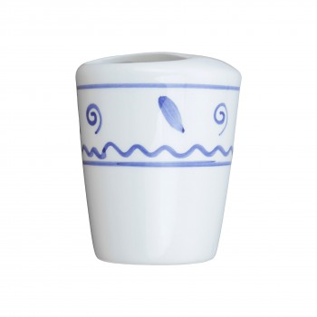 3 Bathroom Toothbrush Holders Blue and White Ceramic Bath Accessories Toothbrush Holder Tooth Brush Holder