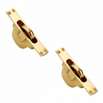 2 Window Brass Brass Sash Weight Pulley