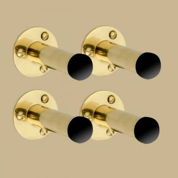 "spec-<PRE> Brass Door Stop Wall Mounted Lip Stick Design Black Spire Bumper 3"" Projection Set of 4</PRE>"