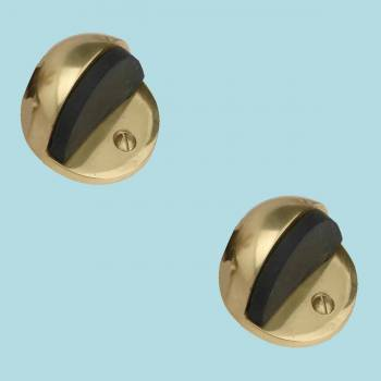 <PRE>2 Brass Door Stop Dome Floor Mount Bumper </PRE>zoom2