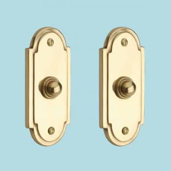 <PRE>2 Colonial Brass Push Button Door Bell 4inch H </PRE>zoom2