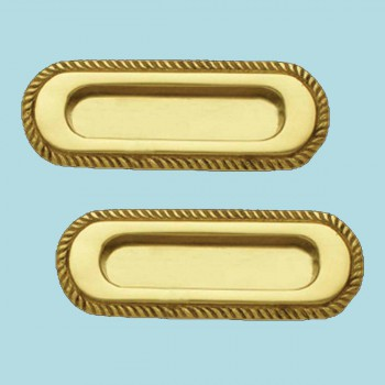 <PRE>2 Georgian Rope Recessed Sash Lift Bright Brass </PRE>zoom2