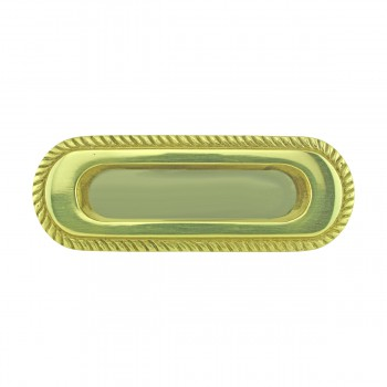 <PRE>2 Georgian Rope Recessed Sash Lift Bright Brass </PRE>zoom3