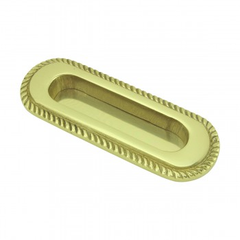 <PRE>2 Georgian Rope Recessed Sash Lift Bright Brass </PRE>zoom4