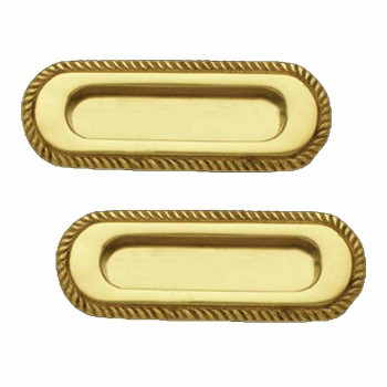 <PRE>2 Georgian Rope Recessed Sash Lift Bright Brass </PRE>zoom1