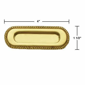 spec-<PRE>2 Bright Brass Georgian Rope Recessed Sash Lift </PRE>