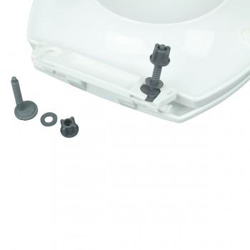 White Porcelain Elongated Push Button Dual Flush Toilet with Seat Set of 2 Modern Round Toilet Dual Flush Toilet Dual Flush Toilet