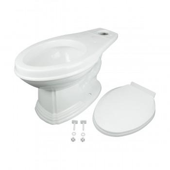 <PRE>White Porcelain Elongated Push Button Dual Flush Toilet with Seat Set of 2</PRE>zoom5