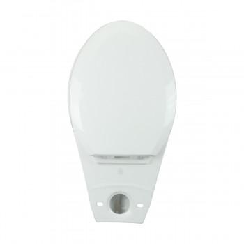 <PRE>White Porcelain Elongated Push Button Dual Flush Toilet with Seat Set of 2</PRE>zoom9