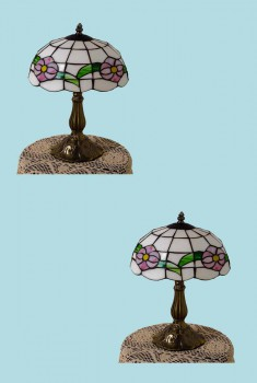 2 Table Lamp Brass  Style Lamp 18.75H Multicolor Lamp Table Lights Lamps