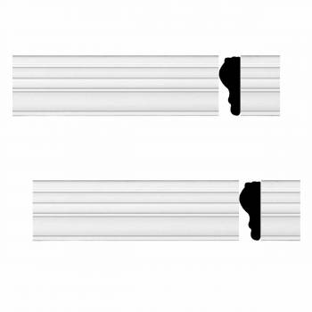 <PRE>2 Chair Rails White Urethane Foam Molding 97 in. x 1 3/4 in. </PRE>zoom1