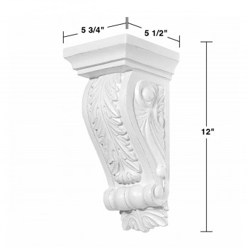 spec-<PRE>2 Fireplace Corbels Victorian Style White Urethane Set of 2 </PRE>